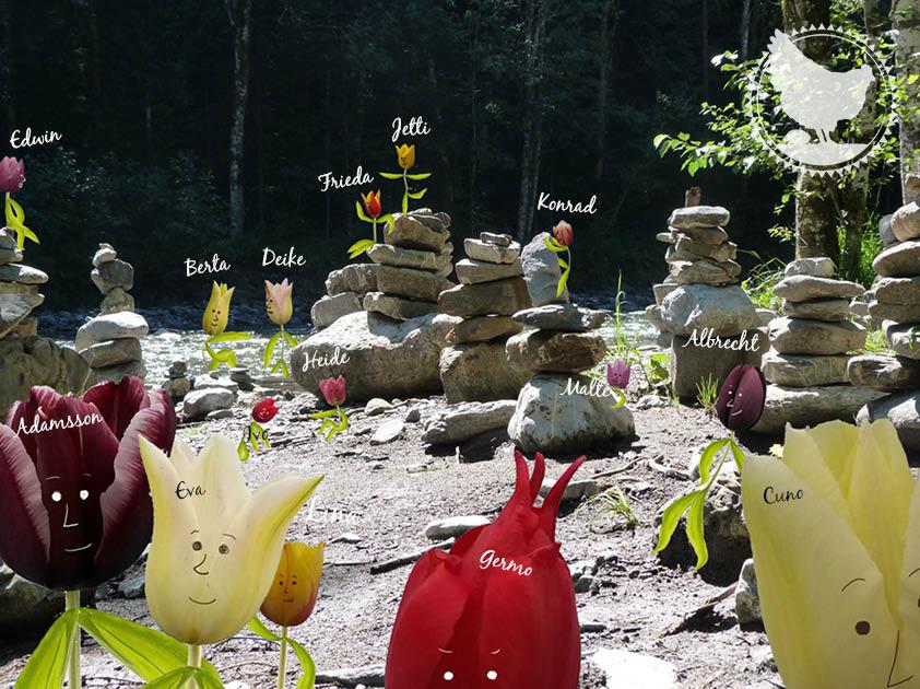 familie tulpe - Großfamilie am Fluss, Familienleben, outdoor