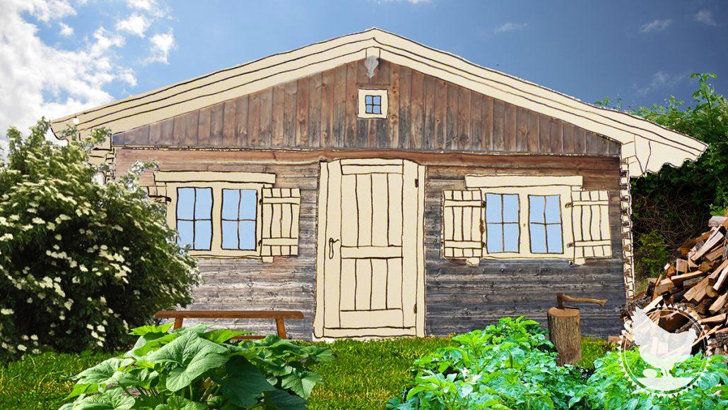 Georg Benjamin, tiny house, Holzhütte, Datsche