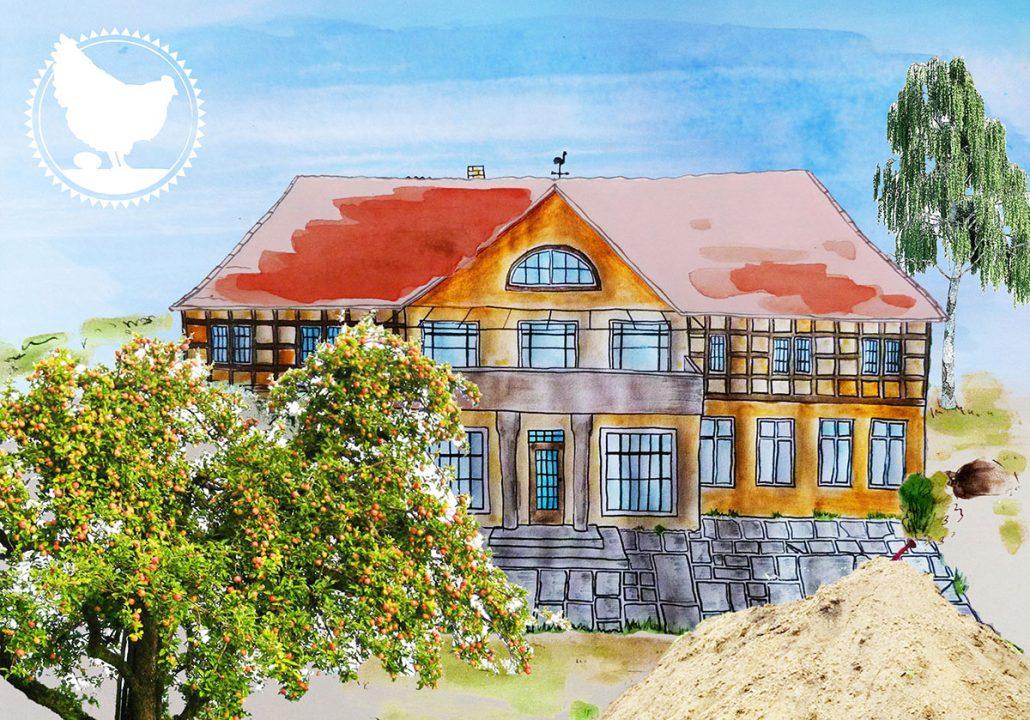 Familie Tulpe wohnt in diesem Herrenhaus, Großfamilie, Familienleben