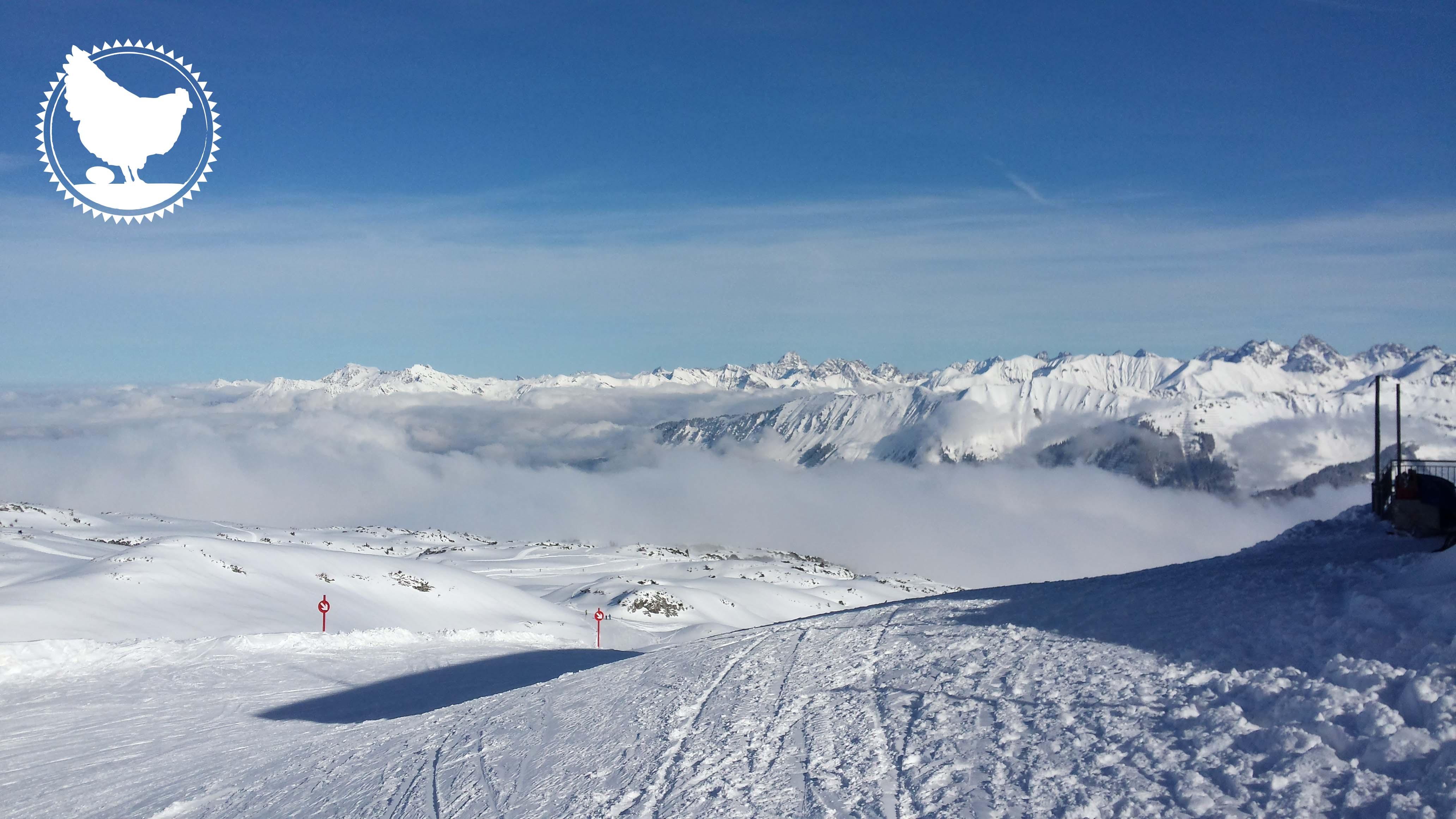 Schnee, Ski