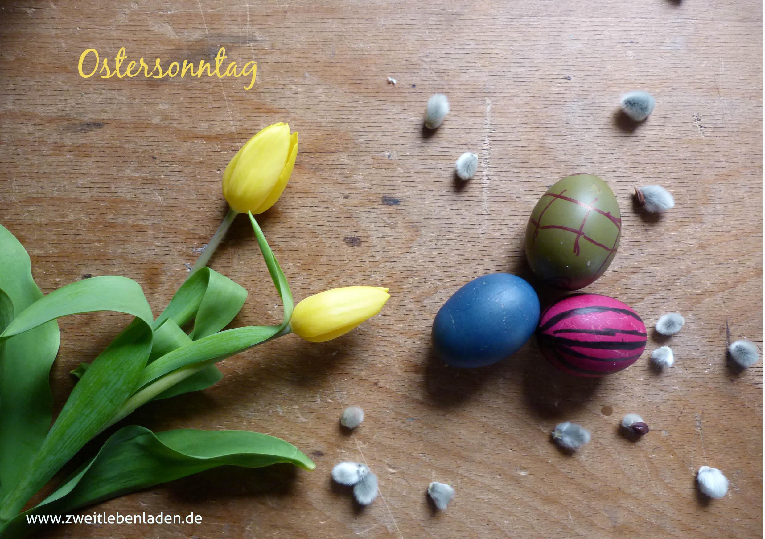 die Farben von Ostern - Ostersonntag - der Herr ist auferstanden - wir feiern bunt