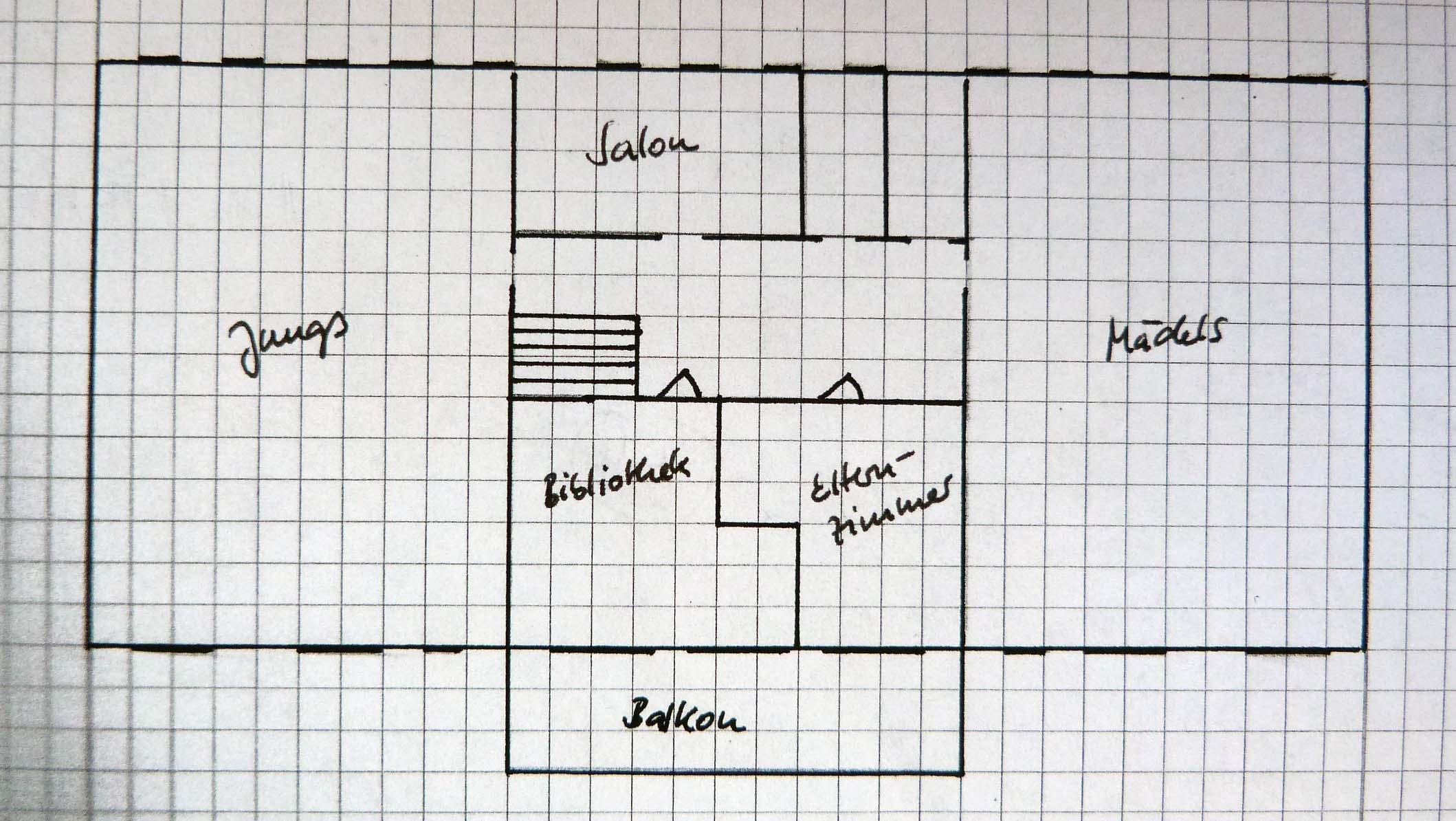 Familie Tulpes Haus_oben mit Raumaufteilung