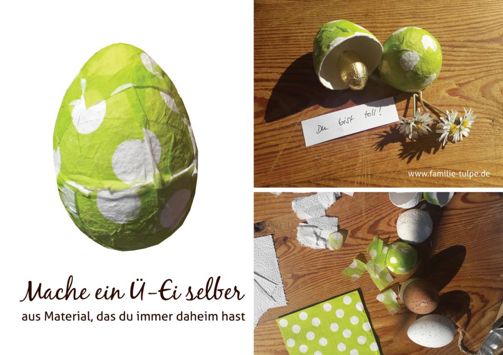 Ü-Ei selber machen aus Toilettenpapier