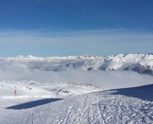 Ski, Spuren, Schnee