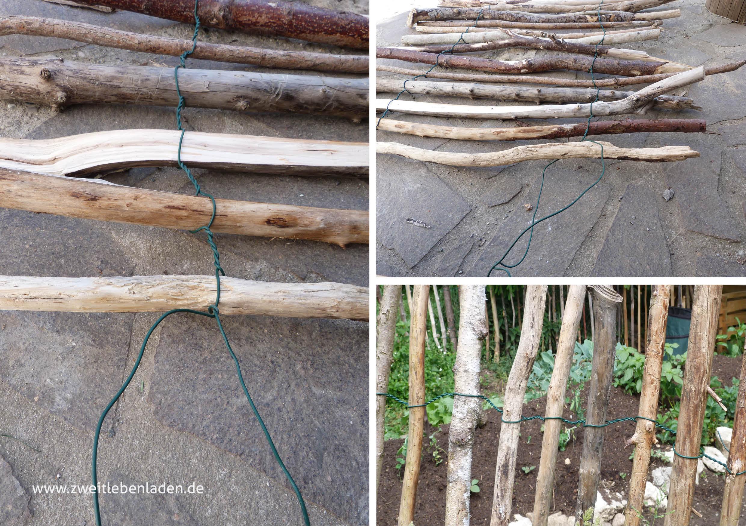 Gartenzaun selber bauen - Technik Staketenzaun