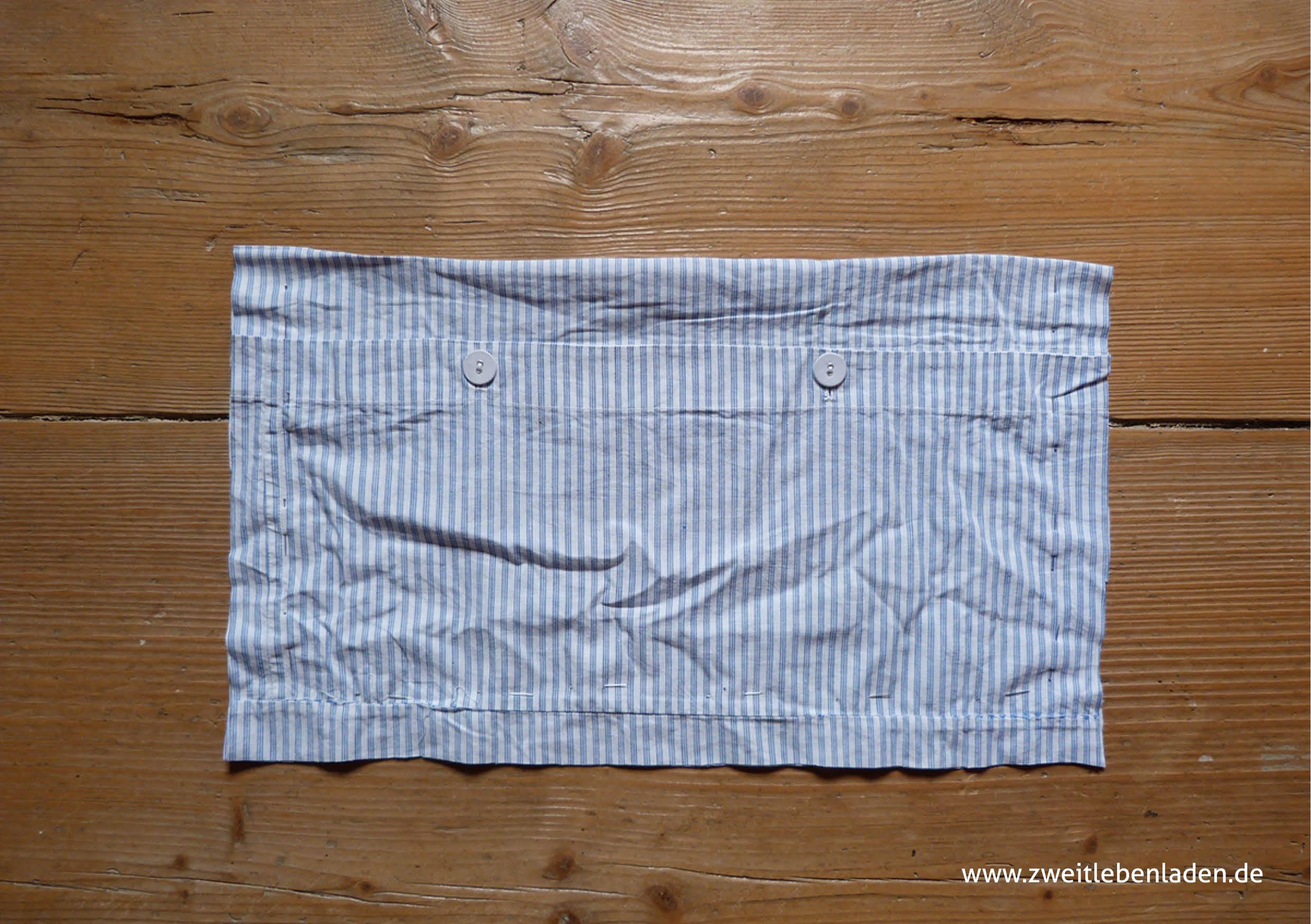 Tasche nähen - Innentasche ausgeschnitten