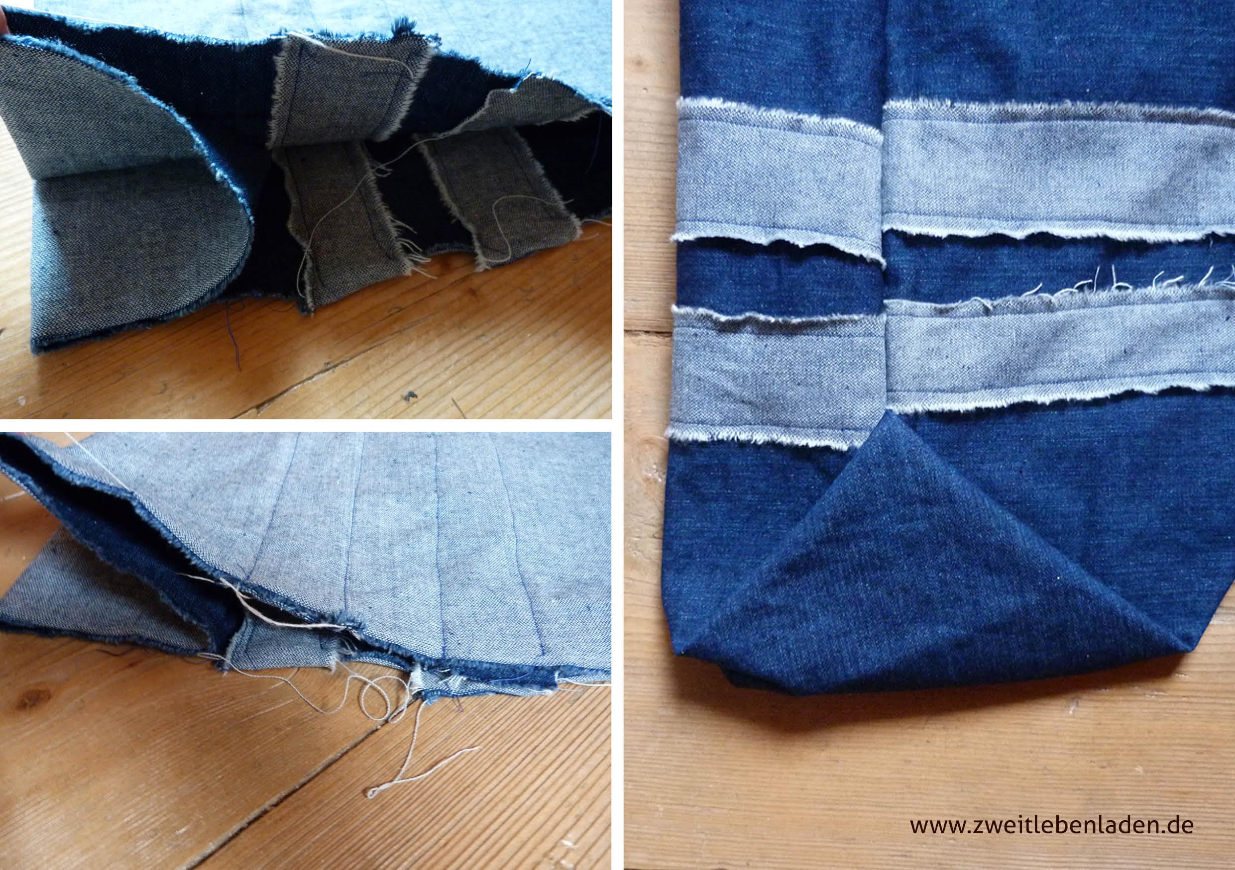 Tasche nähen mit Origamiecken