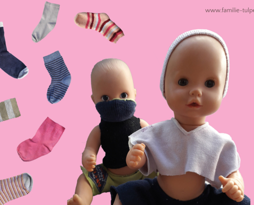 Puppenkleidung aus Socken